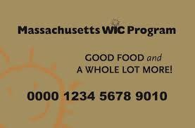 Massachusetts WIC card example